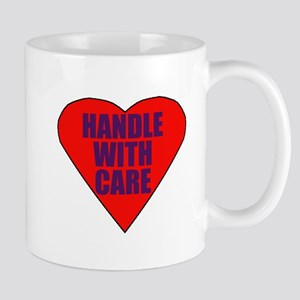 Handle with care heart Mug