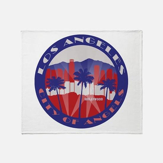 LA City of Angels patriot Throw Blanket