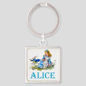 ALICE_BLUE copy Square Keychain