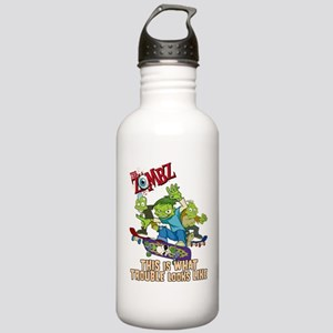 2-zombz_all_trouble_v2 Stainless Water Bottle 1.0L