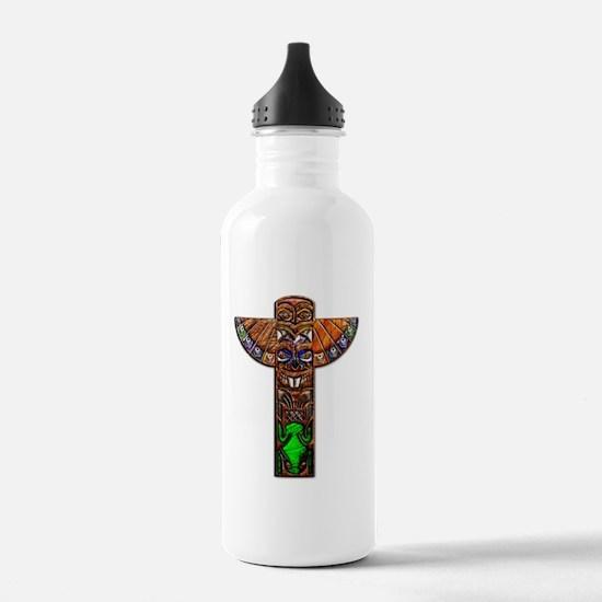 Totem Pole Texture Art Water Bottle