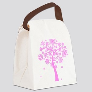 snowflake snow winter christmas x Canvas Lunch Bag