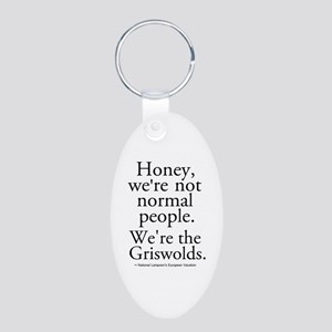 'We're The Griswolds' Aluminum Oval Keychain