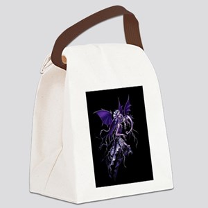 Purple Dragon Fairy Canvas Lunch Bag