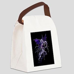 Purple Dragon Fairy Canvas Lunch Bag