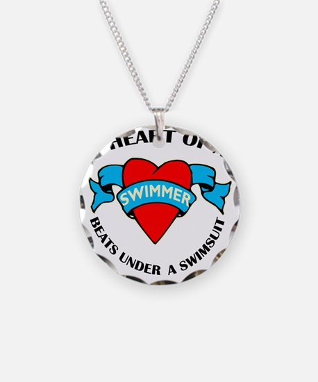 Heart of a Swimmer tattoo Necklace