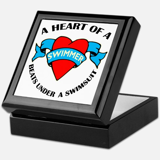 Heart of a Swimmer tattoo Keepsake Box