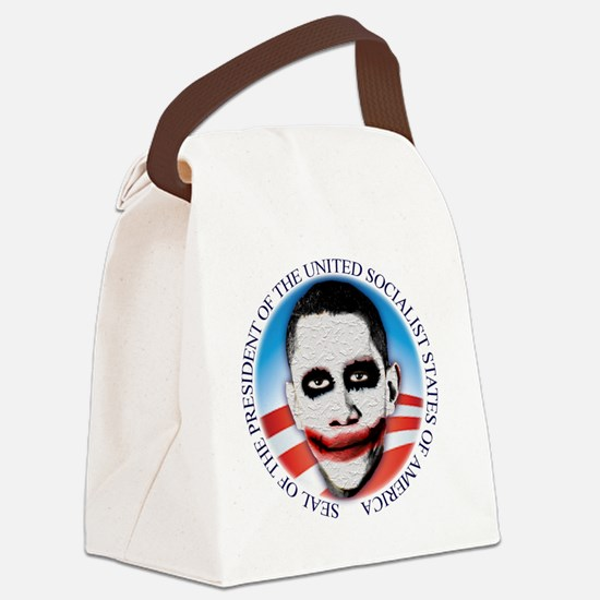 seal_ussa_lt Canvas Lunch Bag