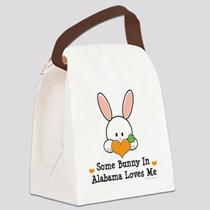 2-AlabamaSomeBunnyLovesMe Canvas Lunch Bag