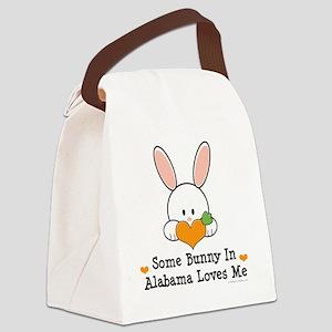 2-AlabamaSomeBunnyLovesMe Canvas Lunch Bag