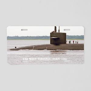 wvirginia small poster Aluminum License Plate