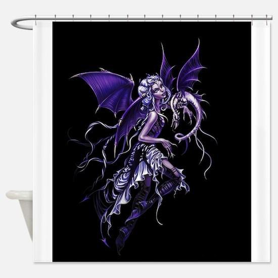 Purple Dragon Fairy Shower Curtain