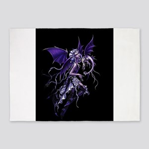 Purple Dragon Fairy 5'x7'Area Rug