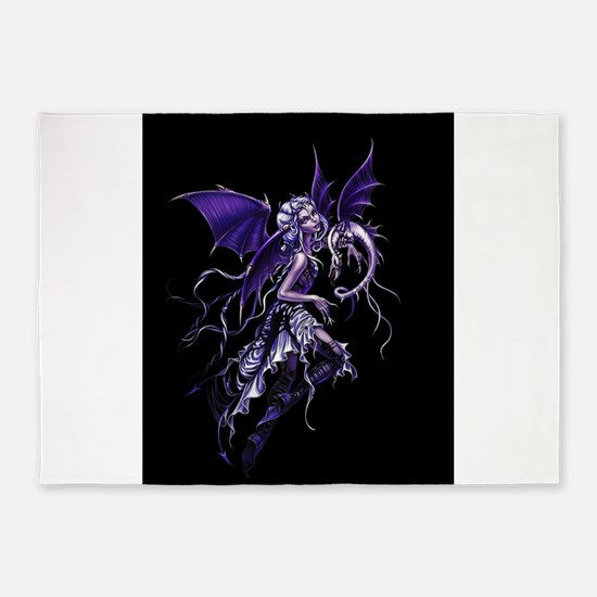 Purple Dragon Fairy 5'x7'Area Rug