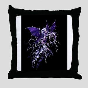 Purple Dragon Fairy Throw Pillow