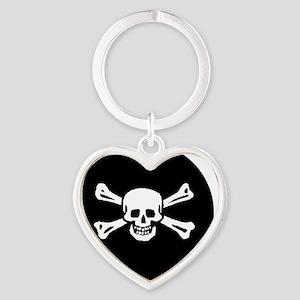 pirateround Heart Keychain