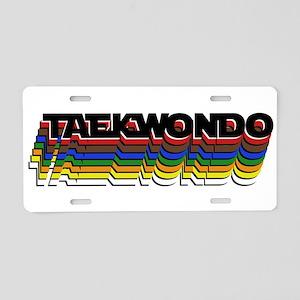 Taekwondo Colors Aluminum License Plate
