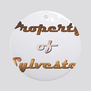 Property Of Sylvester Male Round Ornament