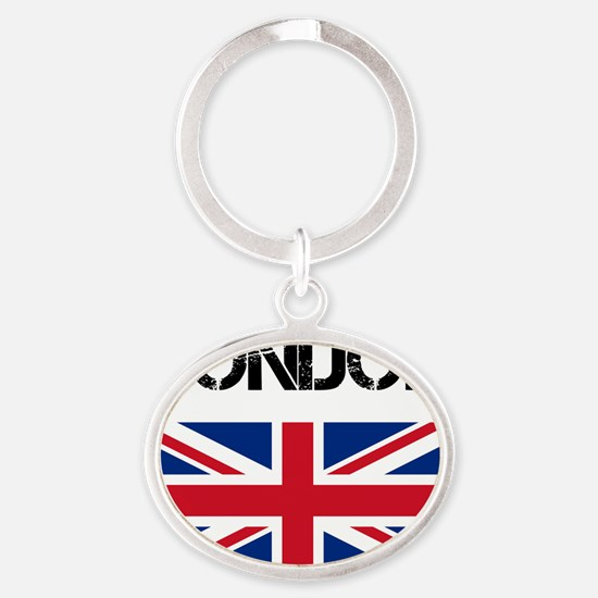 London Oval Keychain
