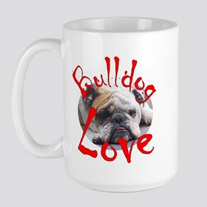 Bulldog Love Large Mug