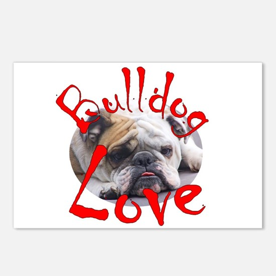 Bulldog Love Postcards (Package of 8)