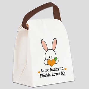 FloridaSomeBunnyLovesMe Canvas Lunch Bag