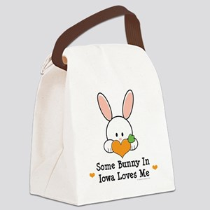 IowaSomeBunnyLovesMe Canvas Lunch Bag