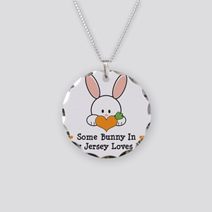 NewJerseySomeBunnyLovesMe Necklace Circle Charm