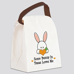 2-SomeBunnyTexasLovesMe Canvas Lunch Bag