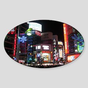 tokyo_001_14x10 Sticker (Oval)