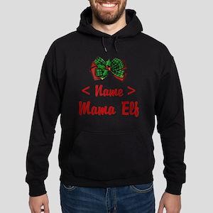 Personalized Mama Elf Hoodie (dark)