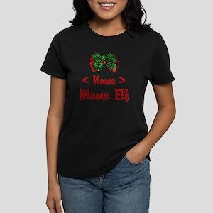 Personalized Mama Elf Women's Dark T-Shirt