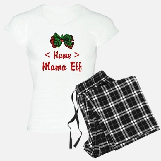 Personalized Mama Elf Pajamas