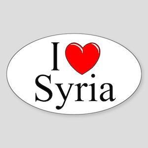"""I Love Syria"" Oval Sticker"