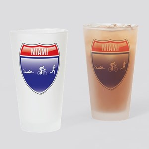 Triathlon-Miami-Shield-women Drinking Glass