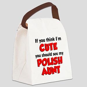 Cute Polish Aunt Canvas Lunch Bag