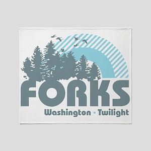 Forks Twilight Throw Blanket