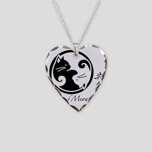 yin-yang-cats Necklace Heart Charm