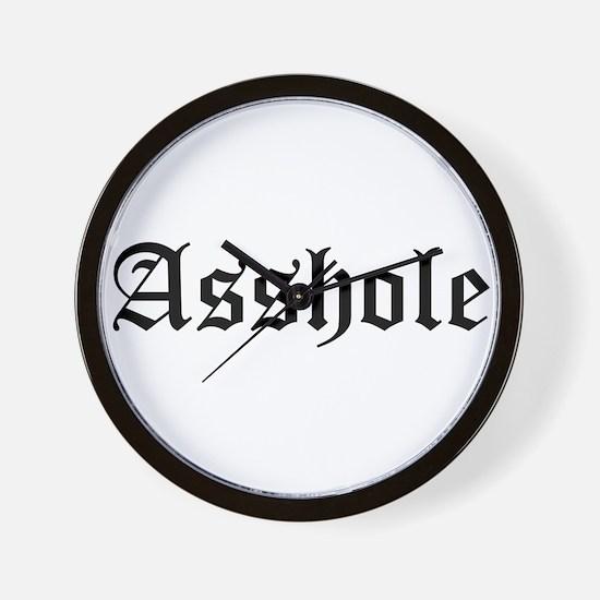 Asshole Wall Clock