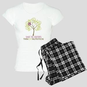 2-tree with owl1 Women's Light Pajamas