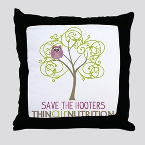 2-tree with owl1 Throw Pillow