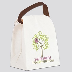 2-tree with owl1 Canvas Lunch Bag