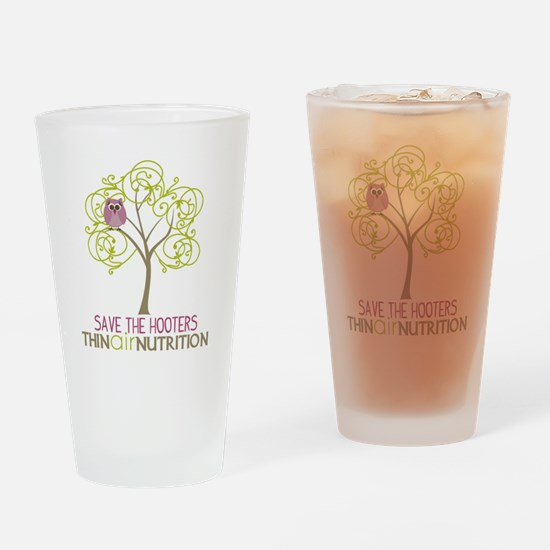 2-tree with owl1 Drinking Glass