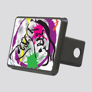 colorful grunge dance Rectangular Hitch Cover