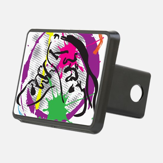 colorful grunge dance Hitch Cover
