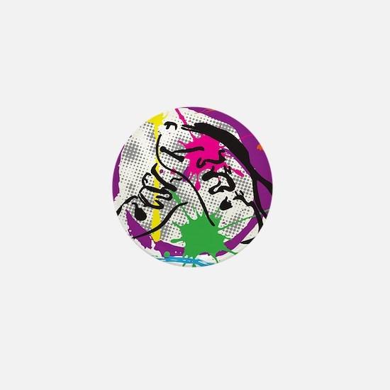 colorful grunge dance Mini Button