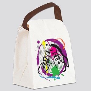 colorful grunge dance Canvas Lunch Bag