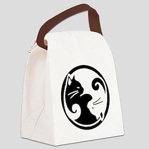yin-yang-cat Canvas Lunch Bag