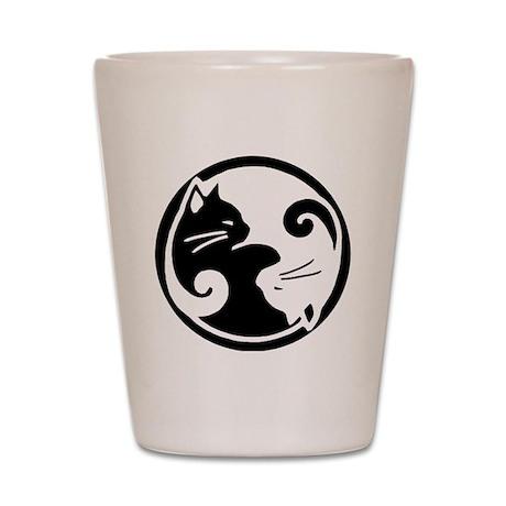 yin-yang-cat Shot Glass
