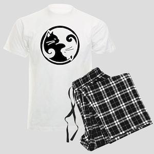 yin-yang-cat Men's Light Pajamas